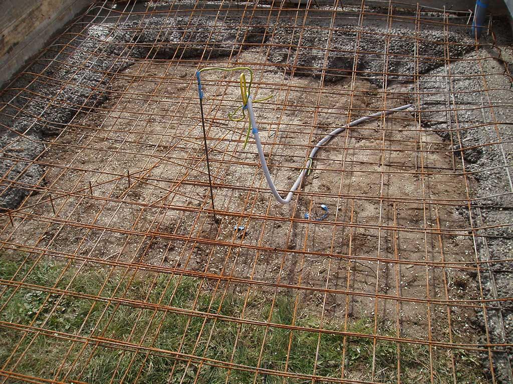 Zatim je slijedilo nalijevanje betona.