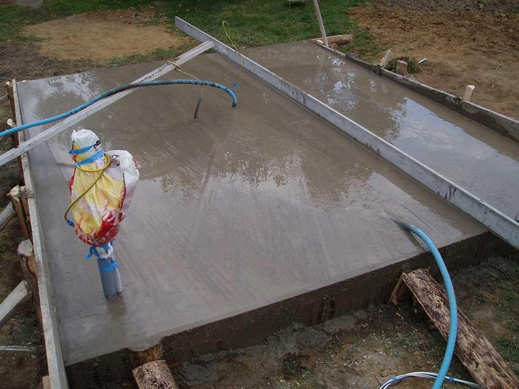Slijedilo je poravnavanje betona.