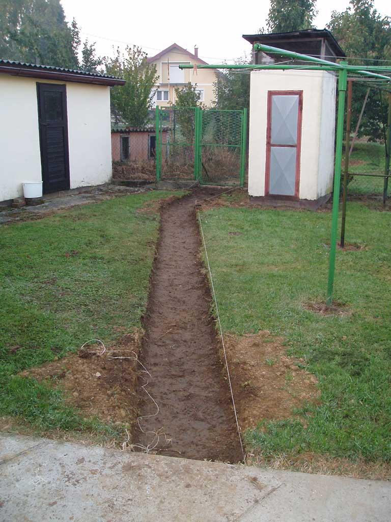 I tada je trebalo početi s kopanjem.