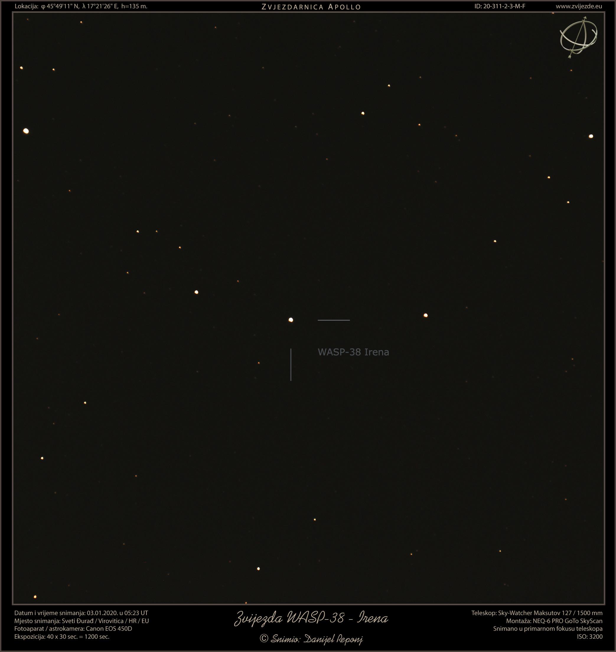 Zvijezda WASP-38 - Irena