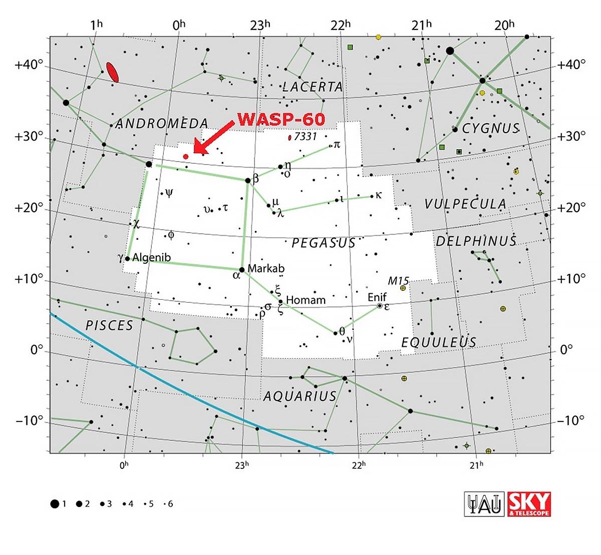 Položaj zvijezde Morave