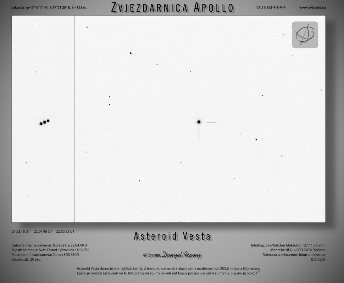 Asteroid Vesta - inverzno