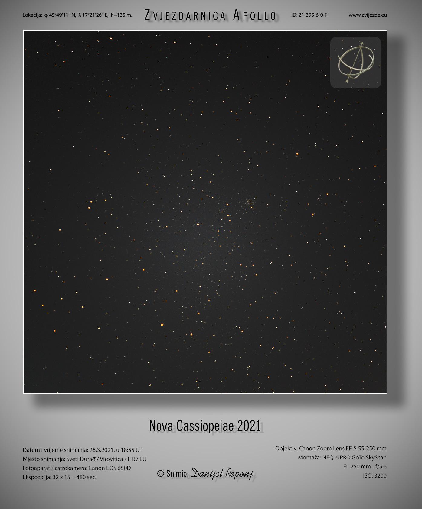 Nova Cassiopeiae 2021 - širokokutna