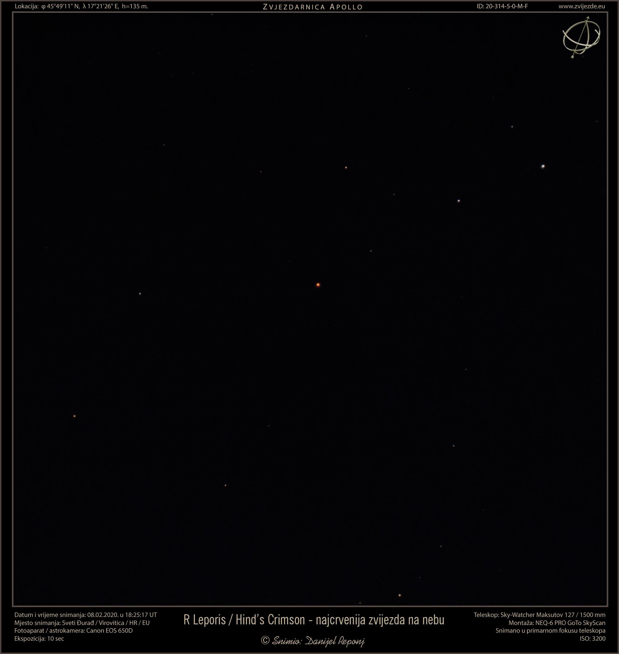 Najcrvenija zvijezda u svemiru