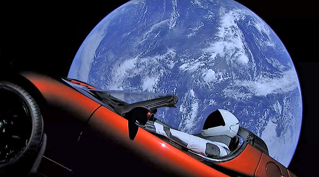 Predivan prizor automobila Tesla Roadstar u Zemljinoj orbiti. © Ljubaznošću: SpaceX