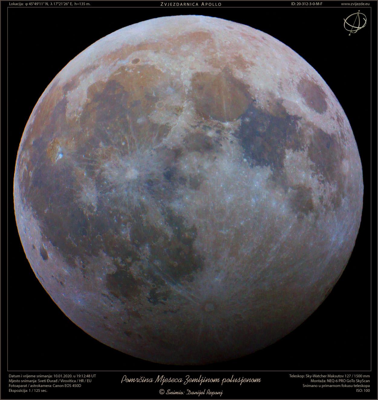 Boje Mjeseca i djelomična pomrčina MJeseca Zemljinom polusjenom