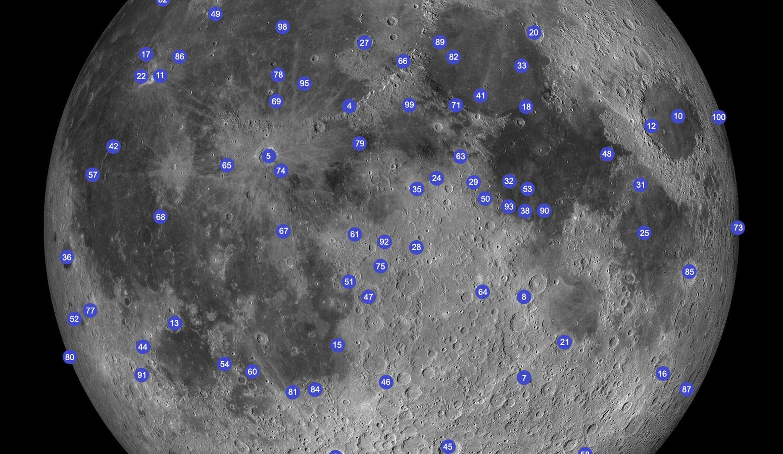 Projekt Mjesečevih 100 – 1, 2 i 3