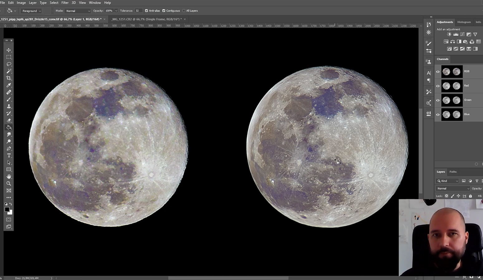 Praktična astronomija – Obrada fotografija Mjeseca