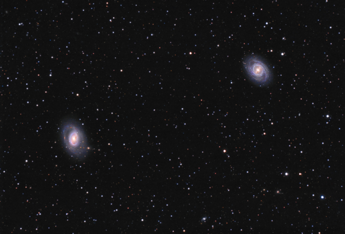 Galaksije M 95 i M 96. © Ljubaznošću: AD Aristarh - timski rad