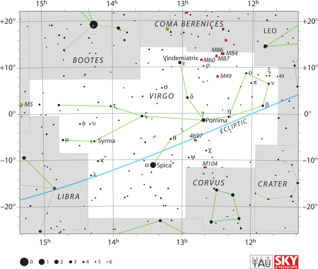 Karta zviježđa Djevica
