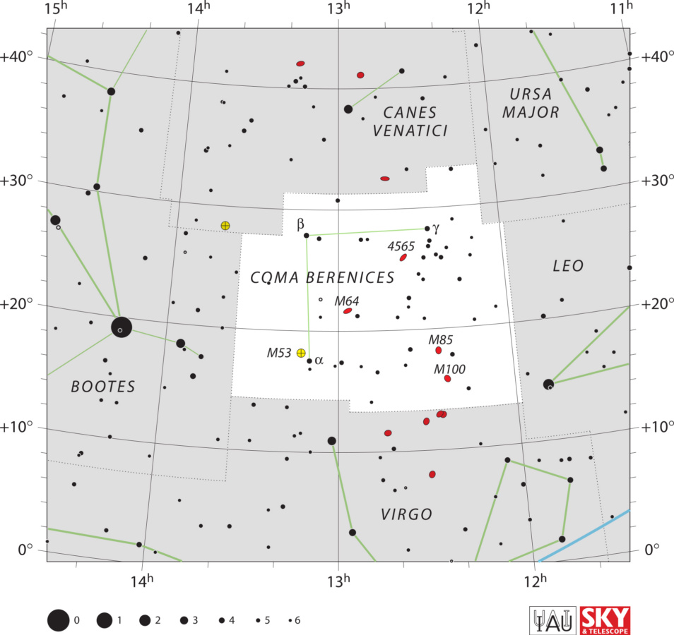 Karta zviježđa Berenikina kosa